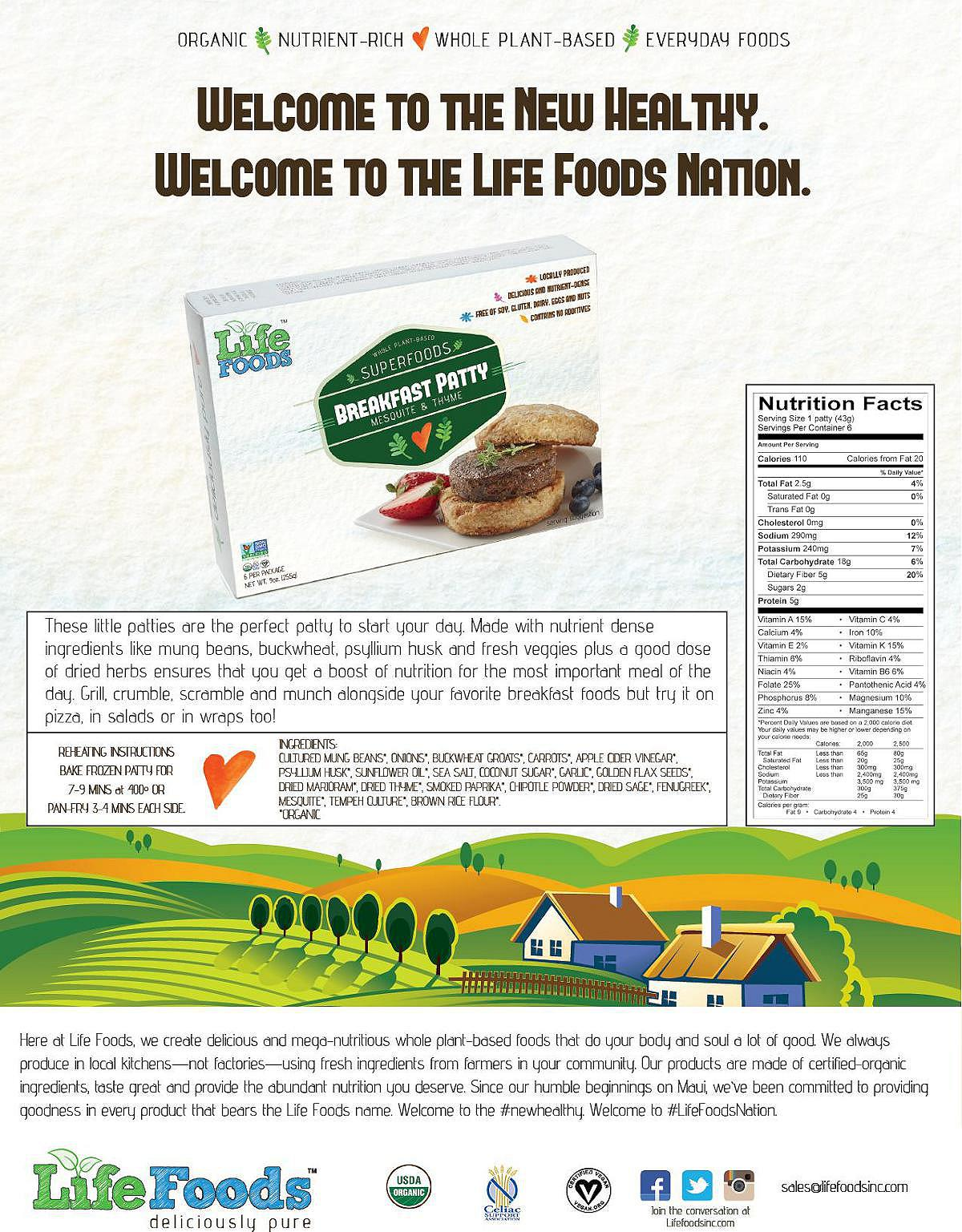 lifefoods-sell-sheet-mesquite-thyme-veggie-sausage