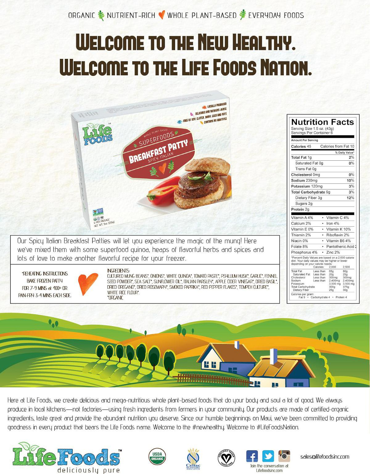 lifefoods-sell-sheet-spicy-italian-veggie-sausage