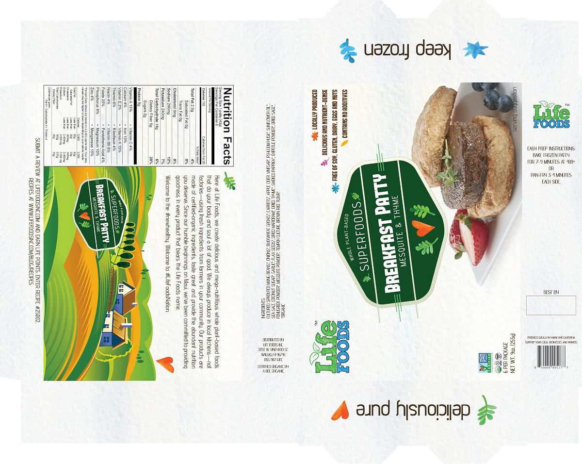 lifefoodsinc-packaging-superfoods-breakfast-patty-mesquite-thyme-veggie-sausage