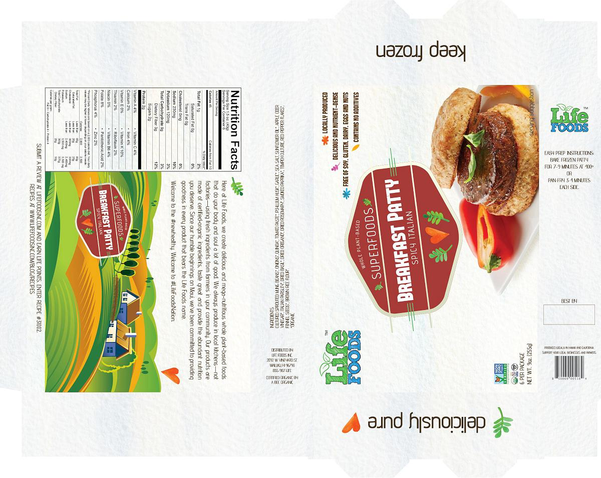 lifefoodsinc-packaging-superfoods-breakfast-patty-spicy-italian-veggie-sausage