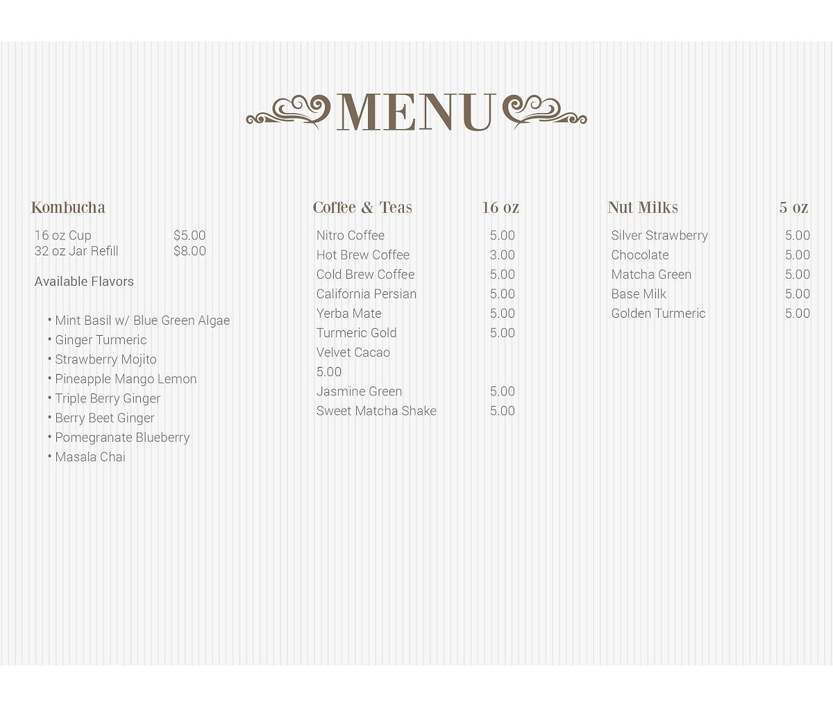 nourish-digital-menu